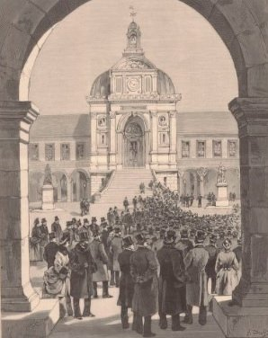 inauguration statues cour d'honneur